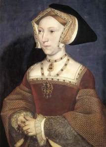 4a JaneSeymour Holbein portrait with pearl and jewel necklace